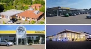 Standorte Brüning KFZ deuschlandweit